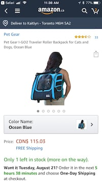 Pet carrier NEW Toronto, M6M 5A2