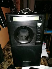 black and gray tower speaker 27 km