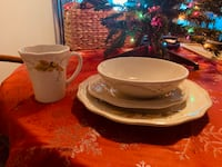'Plymouth' pattern, service for 12, four piece, place settings. Never used. On sale at Pfaltzgraff @ $ 219.99  Irmo, 29063