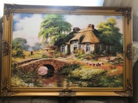 brown wooden framed painting of house Toronto, M2M 4E3