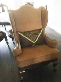 Traditional Wing Back Accent Chair Vaughan