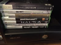 Xbox 360 console with game cases New York, 10119