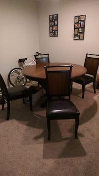 """53"""" round top dining table set (4 chairs)"""