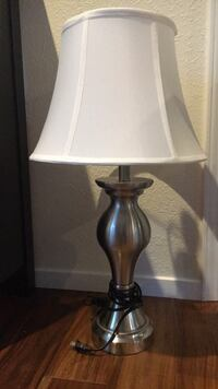 gray and white table lamp Incline Village, 89451