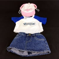 Lot 3 Build A Bear Doll Clothes Toronto Blue Jays Shirt Hat Genuine BAB Workshop 454 km