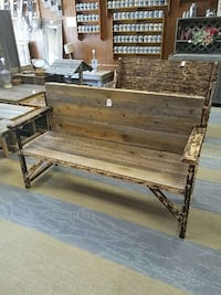 brown wooden bench Mulvane, 67110