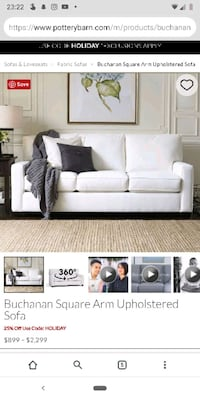 Pottery Barn White Leather Sofa Seattle, 98115