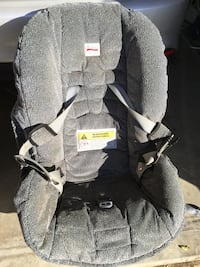 baby's gray carseat