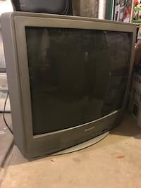 black CRT TV with remote Arvada, 80003