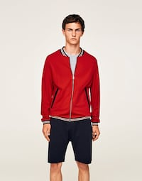 NWT ZARA RED BOMBER JACKET SIZE MEDIUM Annandale, 22003