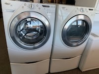 Whirlpool front load washer and dryer set good condition working good with warranty  Woodbridge, 22192