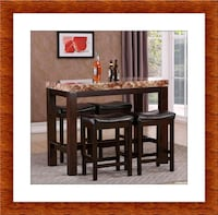 5pc pub table with 4 stools free delivery Ashburn, 20147