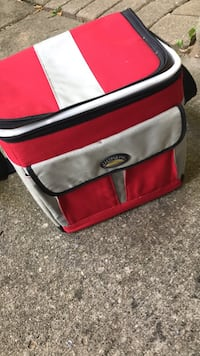 red and gray duffel bag Macomb, 48042