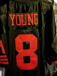 black and red Young 8 jersey shirt Watsonville, 95076