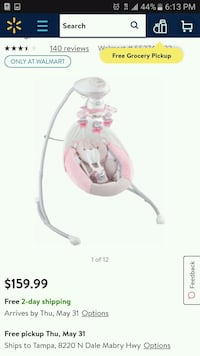 Girls baby ballerina swing Brandon, 33511