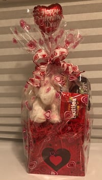 Lovely Valentines Plush Toy and Candy Basket