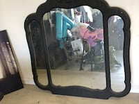 black wooden framed wall mirror Bakersfield, 93308