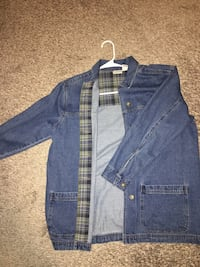 blue denim button-up jacket Fayetteville, 72703
