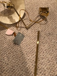 2 brass wall sconces with original hardware.  1 for $10 or 2for 15 Bristow, 20136