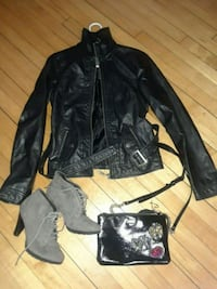 leather jacket Victoria's Secret and boo $40