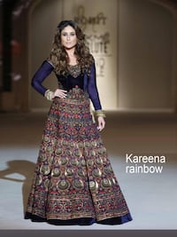 women's blue and brown floral traditional dress Brampton, L7A 0M4