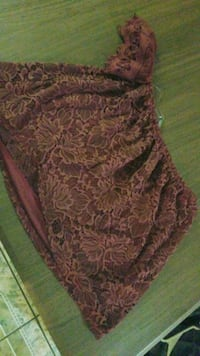 brown and red floral textile 1499 mi