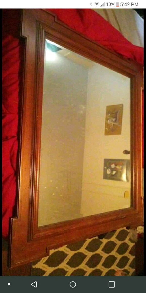 Used Brown Wooden Framed Wall Mirror For Sale In Roanoke Letgo