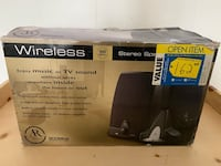 AR Wireless Stereo Speakers for Radio or TV (new)