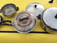 Vintage Wagner Drip Drop No. 8 Oven Skillet and Cover Aluminum plus Stainless steel copper bottom Fall River, 02724