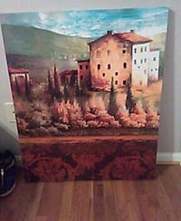 brown wooden framed painting of house Staunton, 24401