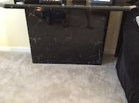 black faux marble coffee table and sofa table WOODBRIDGE