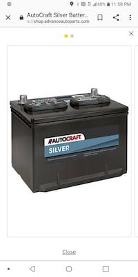 Autocraft Silver Car Battery for sale.