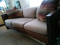 Solid wood futon couch no bed new cushions Framingham, 01702