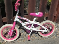 """""""Hello Kitty"""" bike for little girl with trading wheels. Very good condition. Granddaughter out grew it! Petaluma, 94954"""