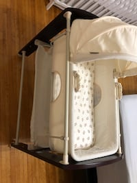 Bassinet and changing table combo