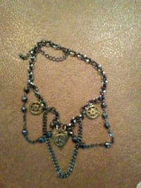 Steampunk choker necklace with bronze charms  Glens Falls, 12801