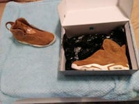 pair of brown-and-white Nike sneakers San Diego, 92126