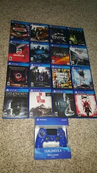16 PS4 GAMES + NEW CONTROLLER LOT BLUE Chino, 91710