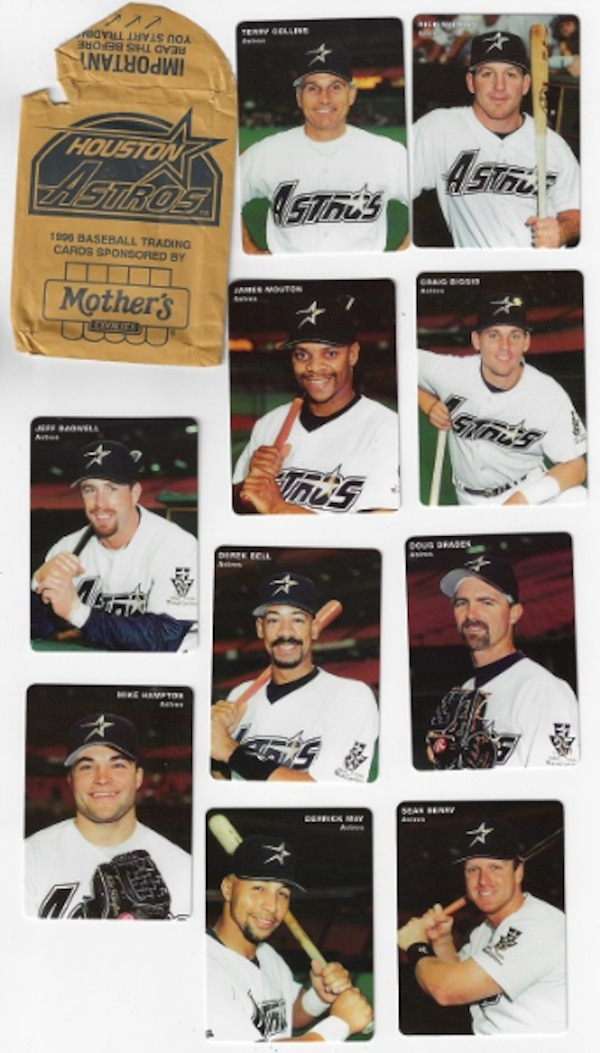97 Houston Astros Mothers Cookies Baseball Cards
