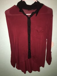 red and black button-up long-sleeved shirt Fresno, 93702