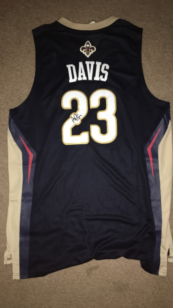 4100c34cd4e Used Anthony Davis signed New Orleans Pelicans jersey for sale in ...