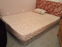 Queen size mattress with box and frame