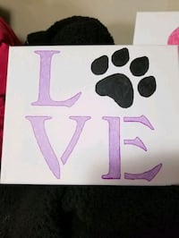 Love paw print painting Hagerstown, 21740