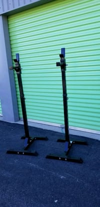 Squat rack adjustable for fitness workout weight lifting gym North Las Vegas, 89031