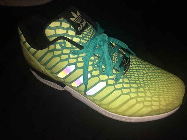 cea718334 Used Reflective adidas zx flux xeno white green running shoes mens for sale  in San Marcos - letgo