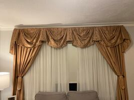2 custom window drapes/ curtains