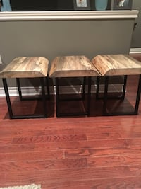 Live edge side tables