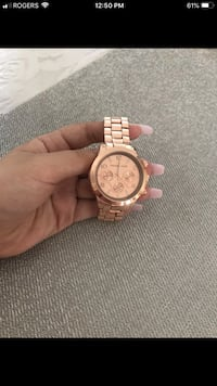 Michael Kors rose gold watch  Toronto, M4J 1V9