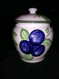 Hand painted Cookie Jar