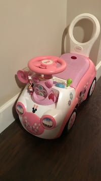white and pink ride on toy car Surrey, V3V 2X7